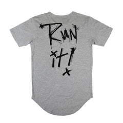 Run It Scoop Tee / Heather Grey