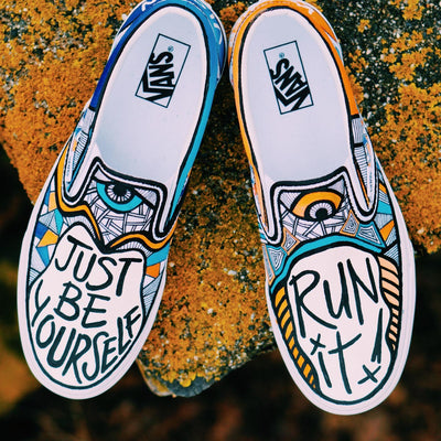 RK X E. Cole Be Yourself Vans (size 11)