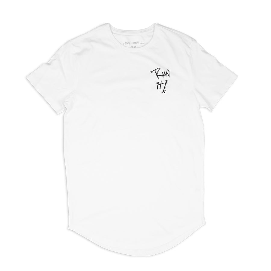 Run It Scoop Tee / White