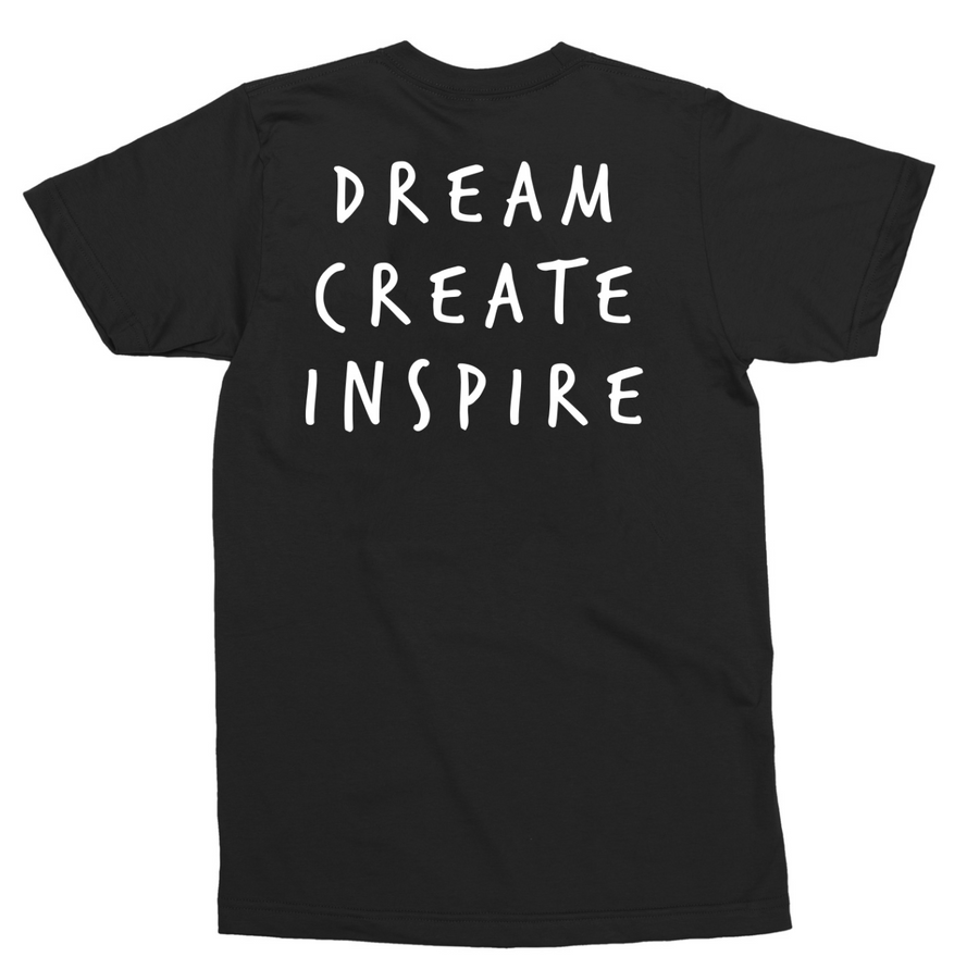 Dream Create Inspire Tee / Black