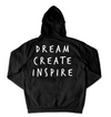Dream Create Inspire Hoodie / Black