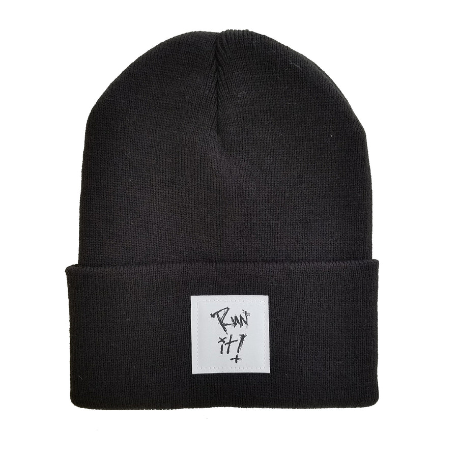 Run It! Woven Label Beanie
