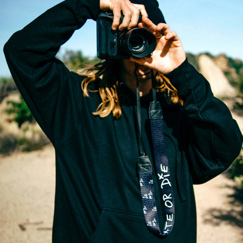 Create Or Die Camera Strap