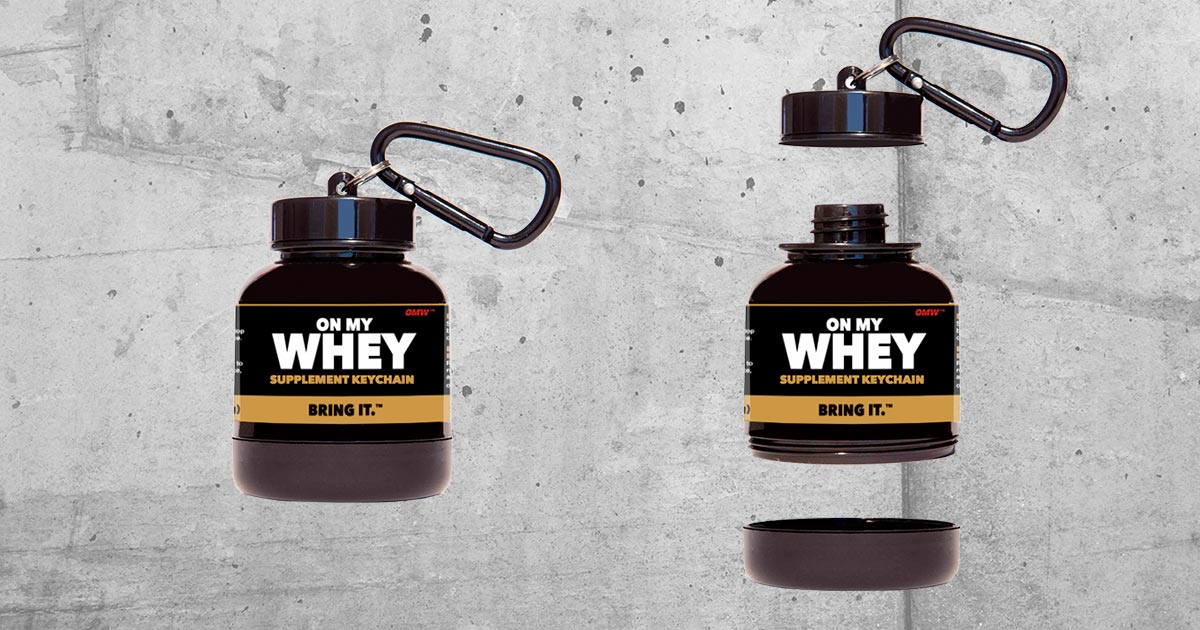 OnMyWhey Supplement Keychain