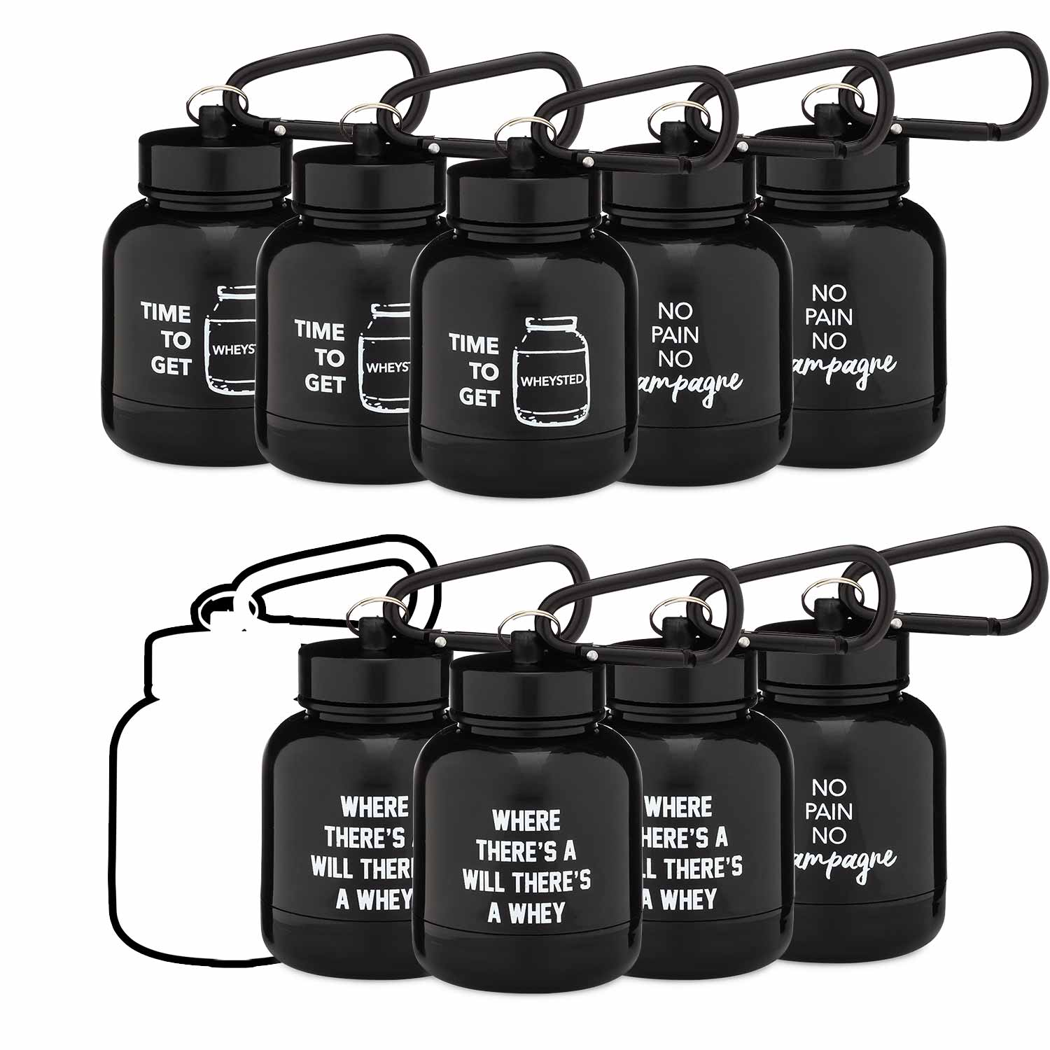 The OnMyWhey Protein Keychain Variety Pack