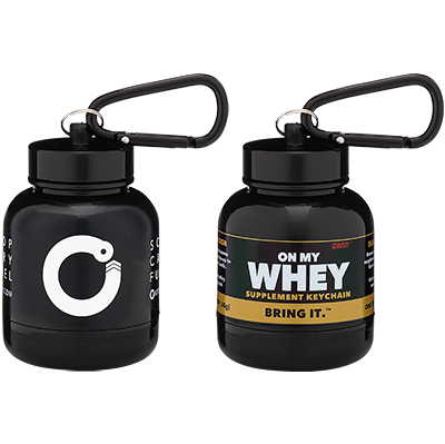 The OnMyWhey Supplement Keychain Combo Pack