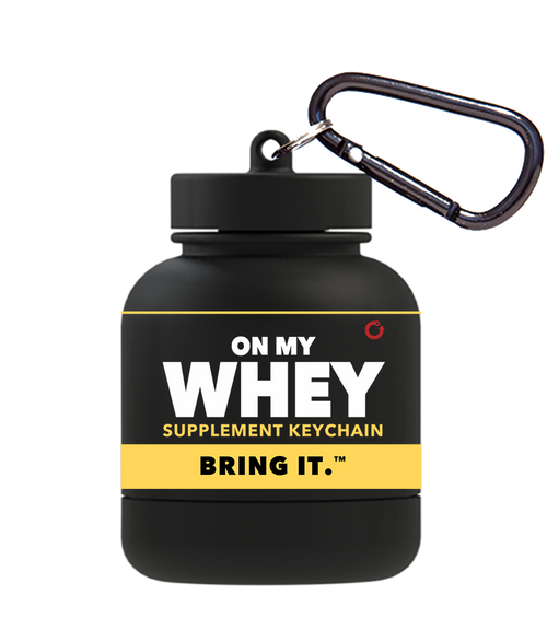 OnMyWhey Protein Keychain Classic Design