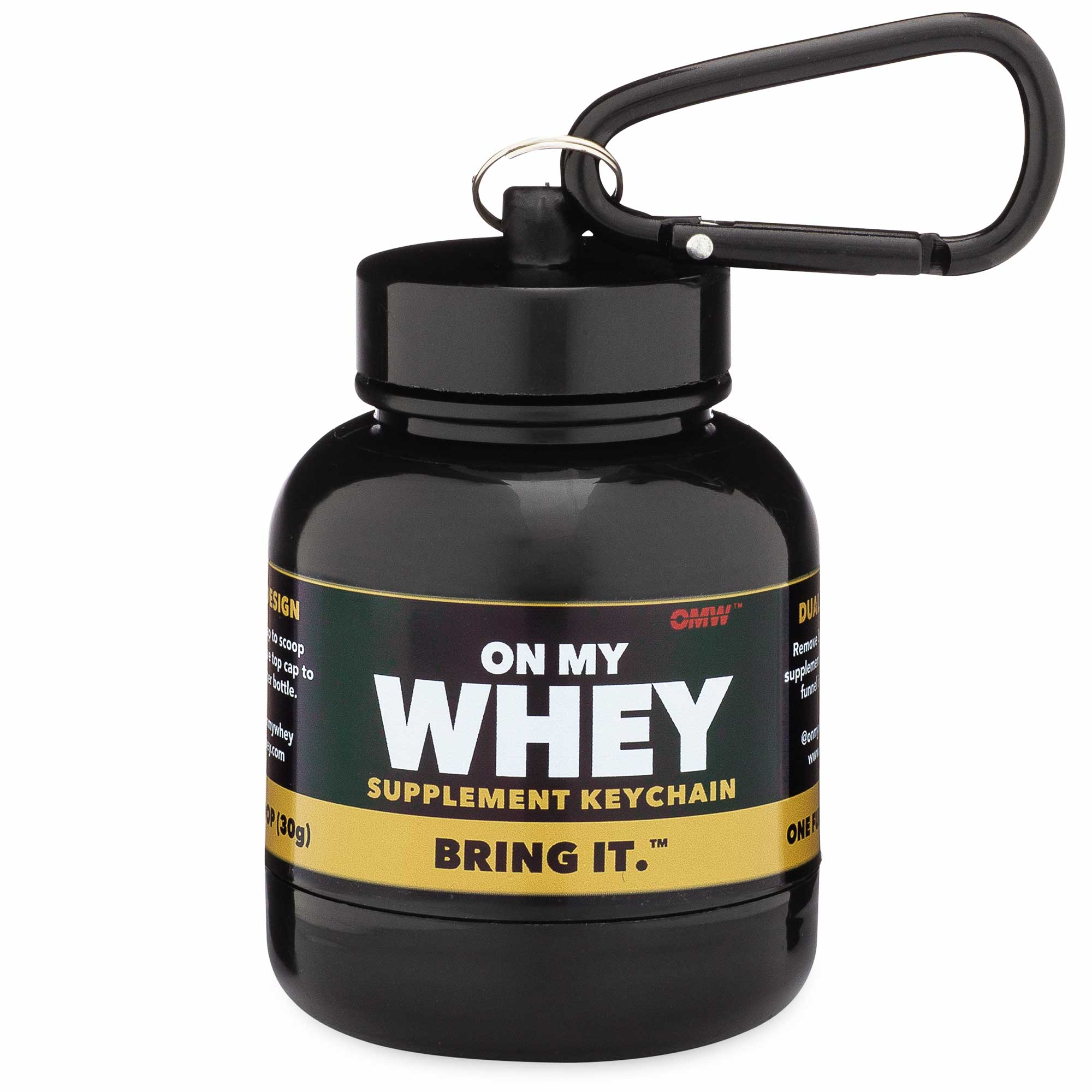 OnMyWhey Protein and Supplement Keychain
