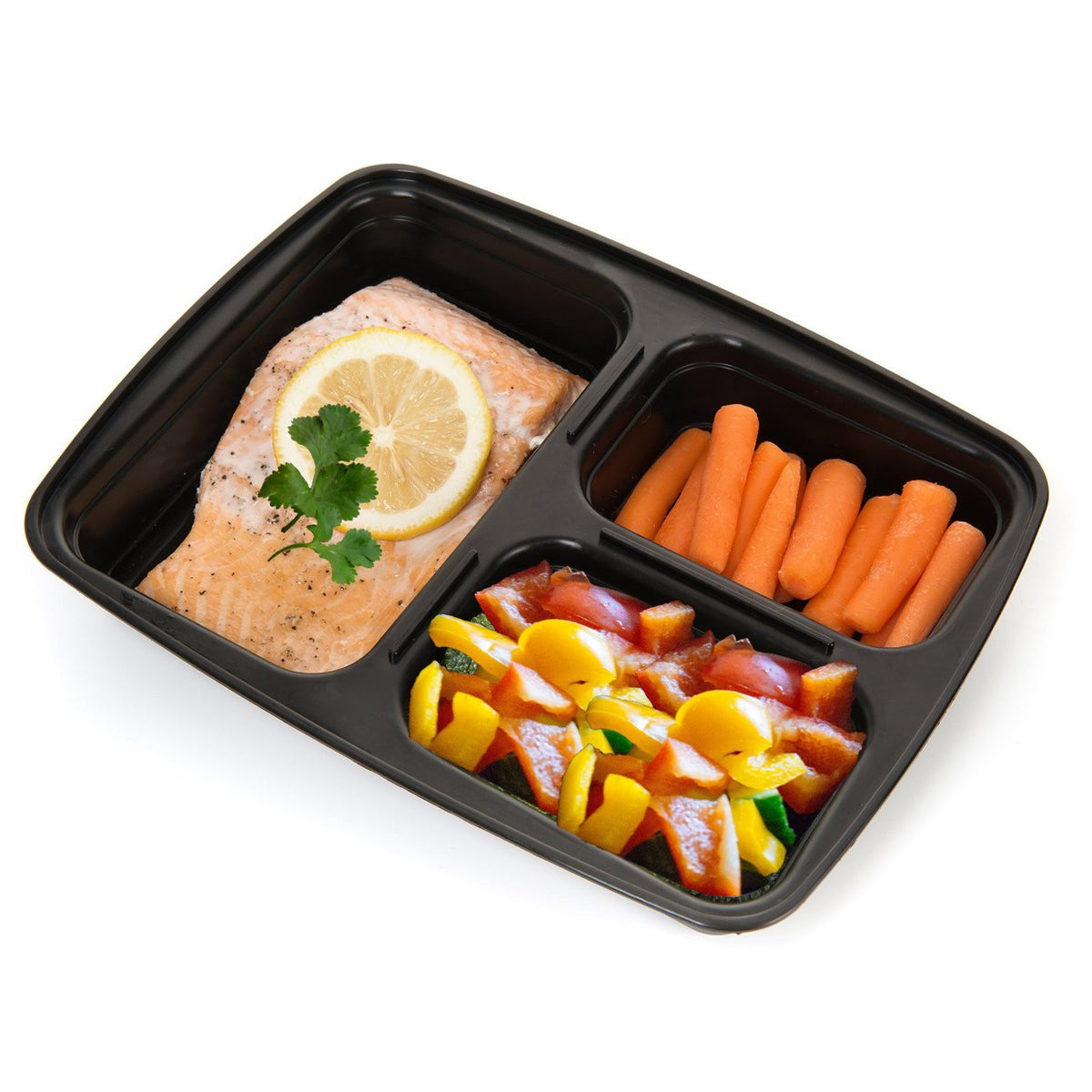 3-Compartment Containers (10 Pack)