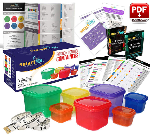 21 Day Portion Control Containers Kit - 7 PC