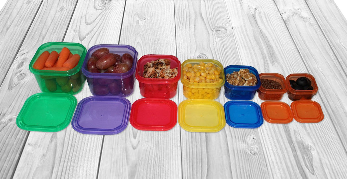 smartYOU DELUXE 14 Piece Portion Control Containers Kit
