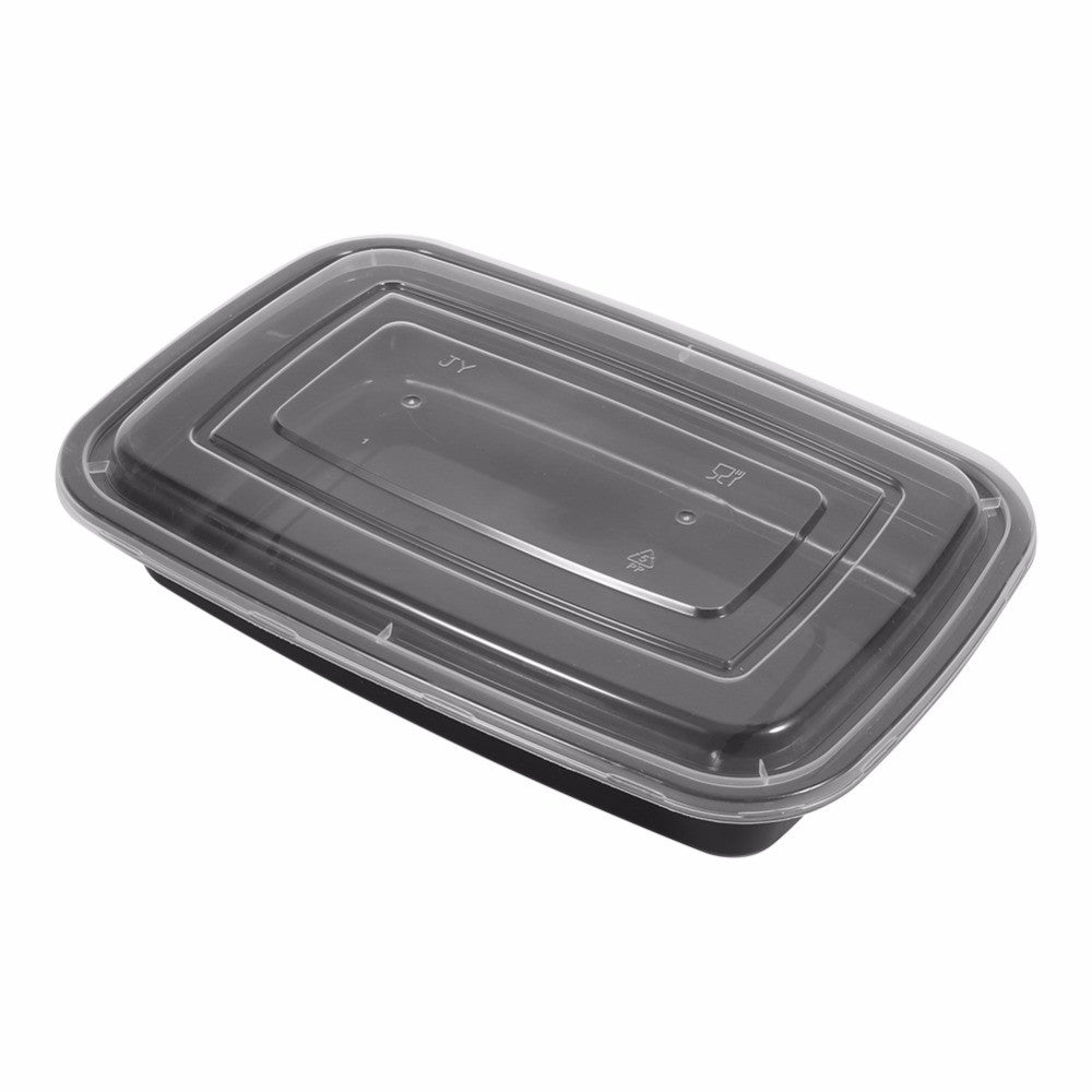 Ultra Light 10 Pack Plastic Microwavable Meal Prep Containers