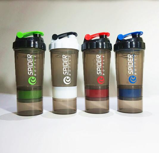 Protein Shaker 3-Tier Bottle 20 oz