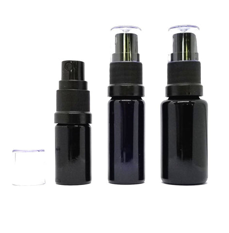 Miron Glass Bottle with Atomizer Spray Cap 6 different sizes 5ml-100ml