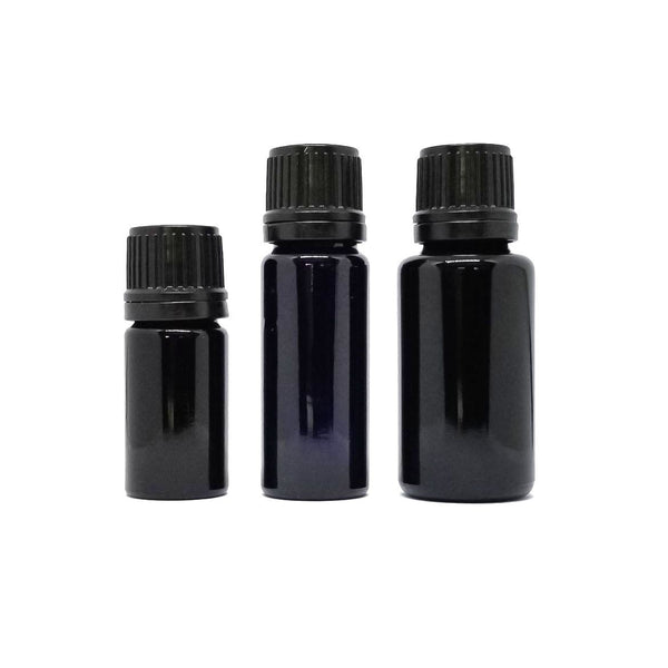 Miron Glass Bottle with Euro Dropper Cap essential oil dropper 6 different sizes 5ml-100ml