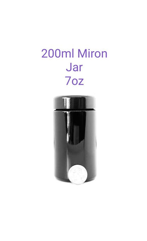 7oz Miron Violet Glass Cosmetic Jar wide mouth 200 ml
