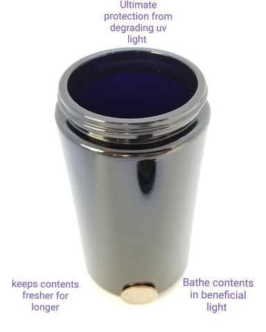 16.9oz Miron Violet Glass Cosmetic Jar wide mouth 500 ml