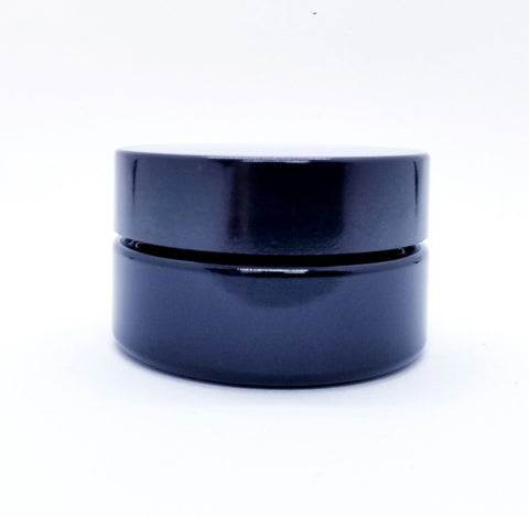 1oz Miron Violet Glass Cosmetic Jar wide mouth 30 ml