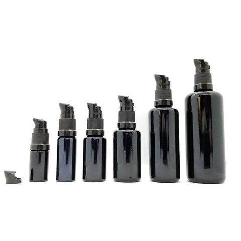 Miron Glass Bottle with Gel Pump 6 different sizes 5ml-100ml