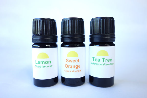 Spring Cleaning Set - Essential Oils of Lemon, Sweet Orange, Tea Tree