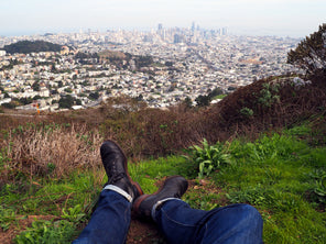 Point of view looking over downtown San Francisco from Twin Peaks.