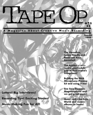 Tape Op Magazine - Issue No. 2 (Summer 1996)