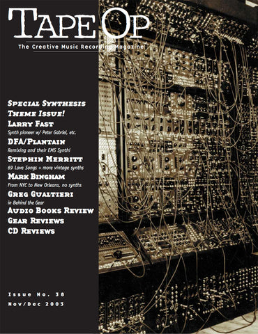 Tape Op Magazine - Issue No. 38 (Nov/Dec 2003)