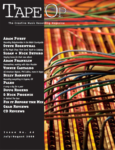 Tape Op Magazine - Issue No. 66 (Jul/Aug 2008)