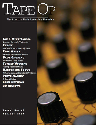 Tape Op Magazine - Issue No. 68 (Nov/Dec 2008)