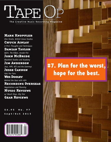 Tape Op Magazine - Issue No. 97 (Sep/Oct 2013)