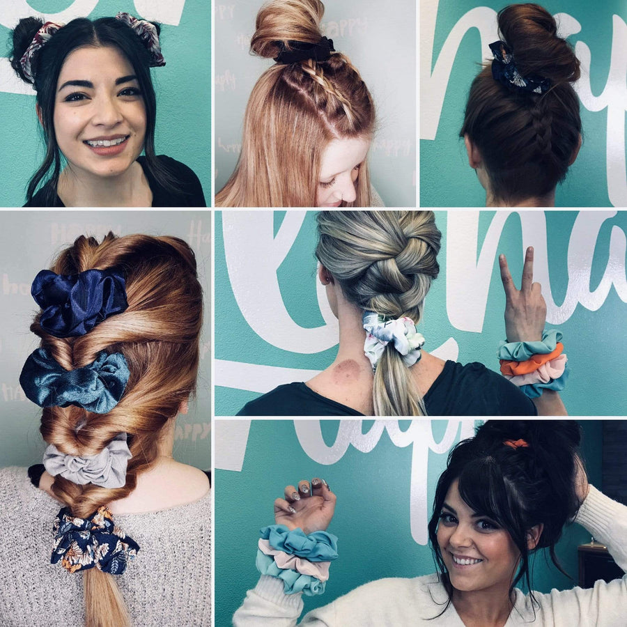 10 Scrunchie Hairstyles with our KB Scrunchies - Chatters Hair Salon