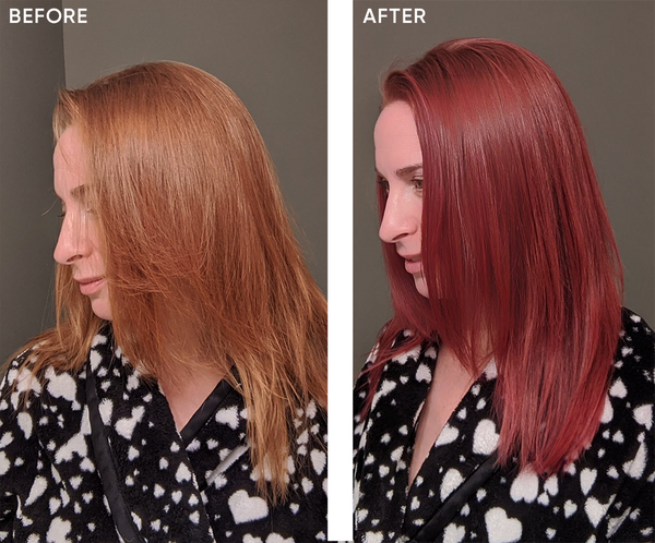 Celeb Luxury, Pink Hair, Before and After