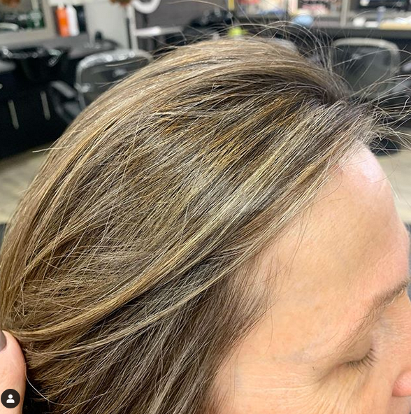 Growing out grey hair highlights and lowlights