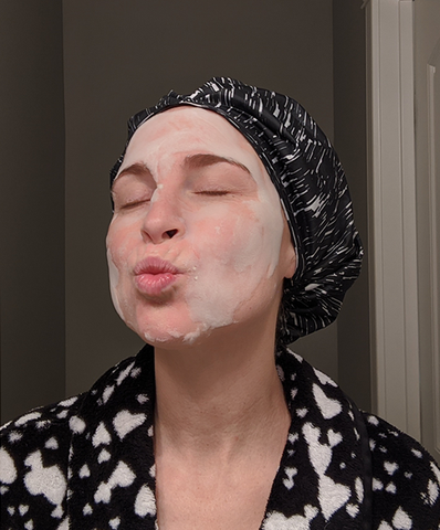 Makeover, Face mask, Hair mask
