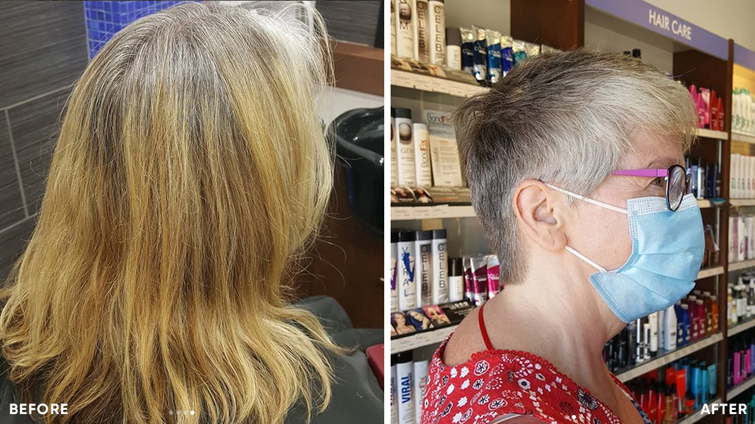 Growing out grey hair pixie cut