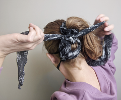 Hairstyles with a  face mask