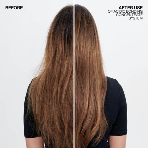 Damaged hair before and after repair