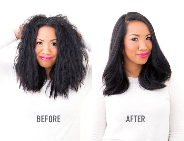 At-home Blowout before after