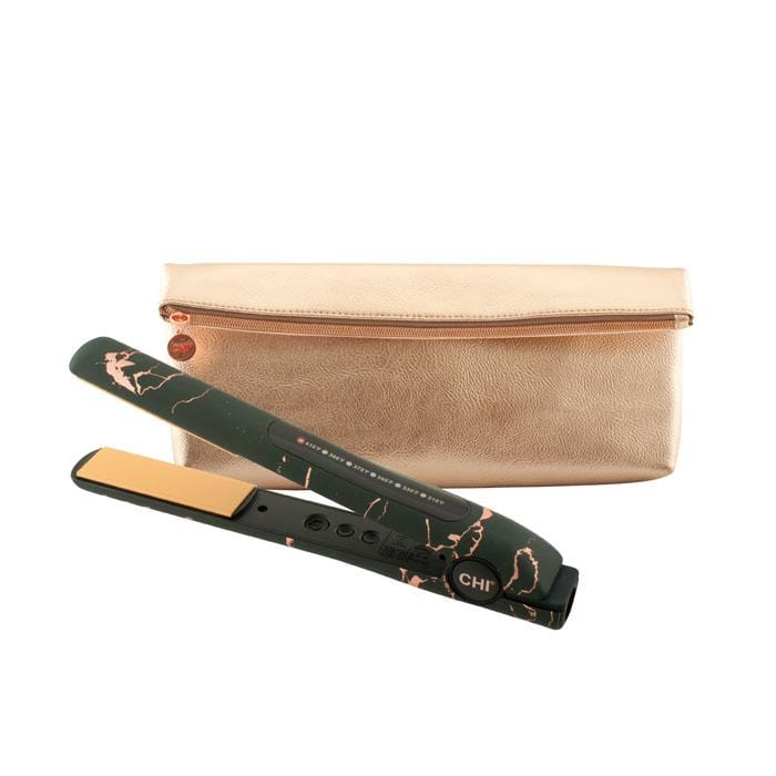 "CHI Rose Noir 1"" Flat Iron with Clutch"