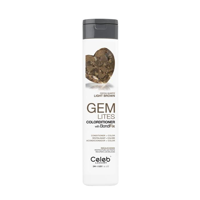 CELEB LUXURY Gemlites Cocoa Quartz Colorditioner With BondFix