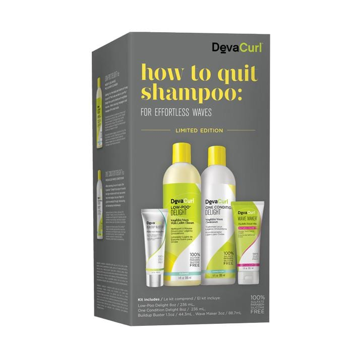 CLEARANCE DEVACURL How To Quit Shampoo Wavy Kit