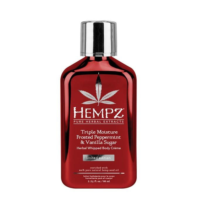 HEMPZ Triple Moisture Frosted Peppermint & Vanilla Sugar Herbal Whipped Body Crème
