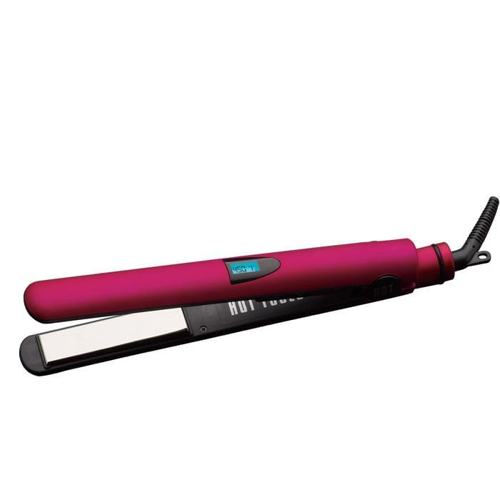 "HOT TOOLS Pink Titanium Digital 1"" Flat Iron"