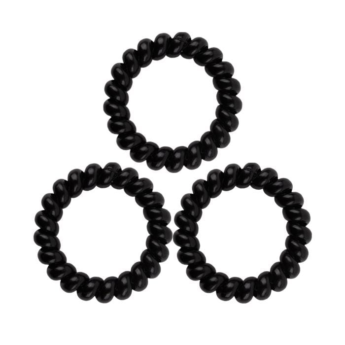 HOT RIGHT NOW! KB Collection Large Traceless Hair Ties - Black
