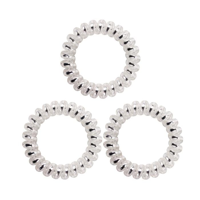 HOT RIGHT NOW! KB Collection Large Traceless Hair Ties - Clear