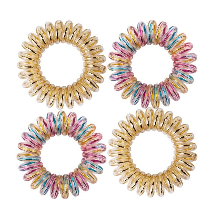 HOT RIGHT NOW! KB Collection Traceless Small Hair Ties - Gold & Multi