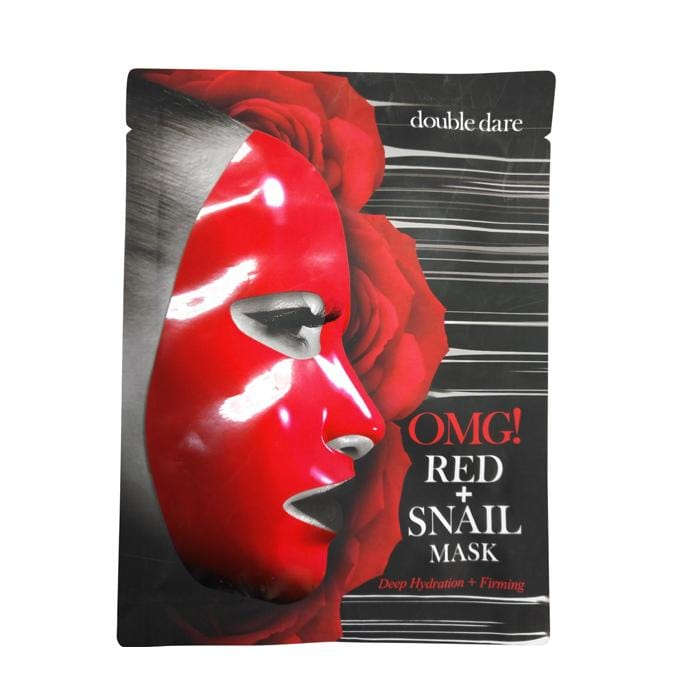 DOUBLE DARE OMG Red + Snail Mask