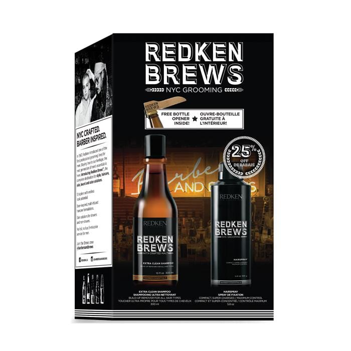 CLEARANCE REDKEN Brews Daily Shampoo/Hairspray Holiday Pack