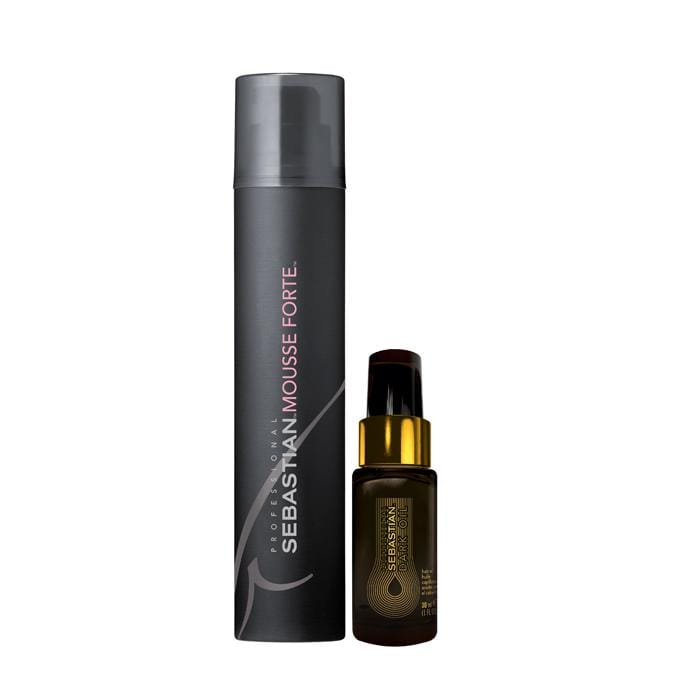 CLEARANCE SEBASTIAN PROFESSIONAL Mousse Forte & Dark Oil Duo