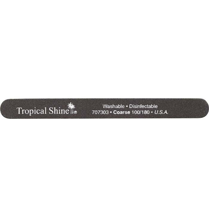 TROPICAL SHINE Black File - Coarse - 100/180 Grit